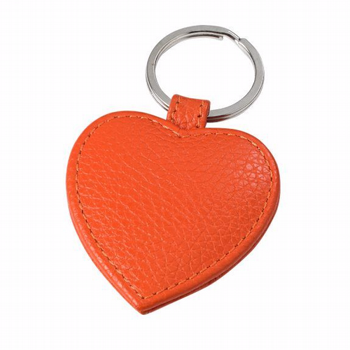 Key Ring Heart Shaped  - Orange
